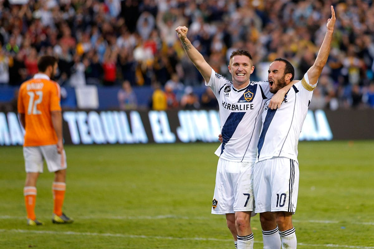 Donovan and Keane playing for LA Galaxy