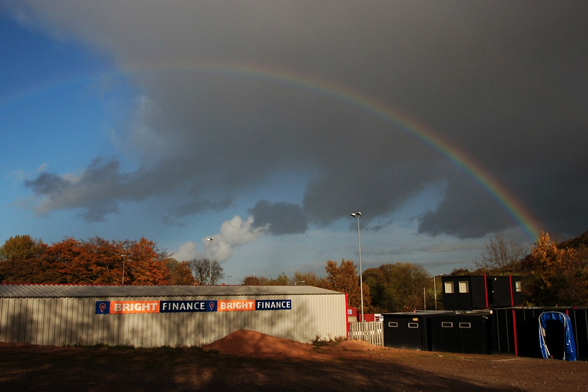 Rainbow over Sheffield United