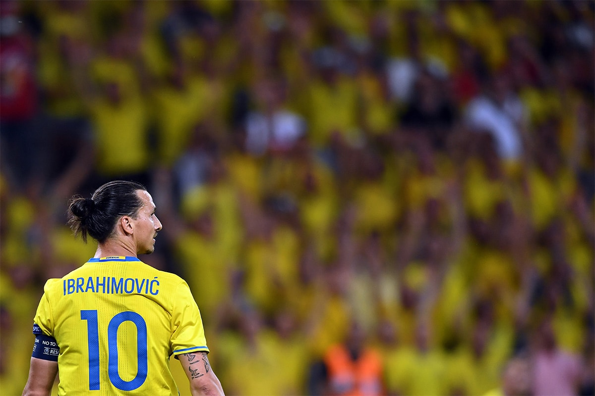 Sweden are without Zlatan Ibrahimović in Group F