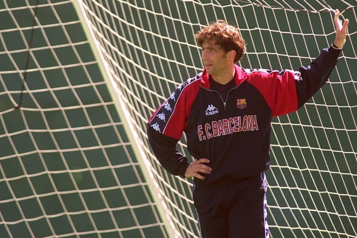 Barcelona's captain, Luis Figo