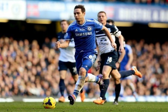 Frank Lampard scored many goals for Chelsea
