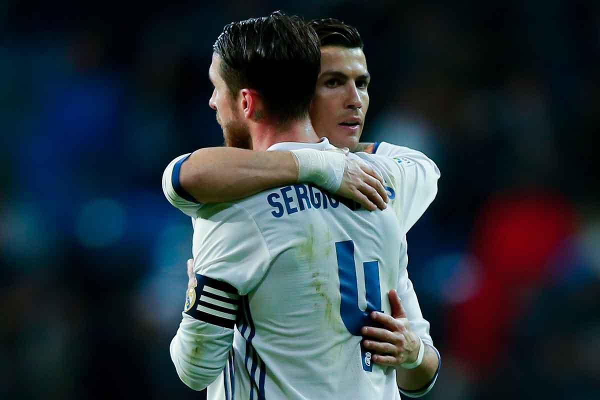 Real Madrid pair Cristiano Ronaldo and Sergio Ramos