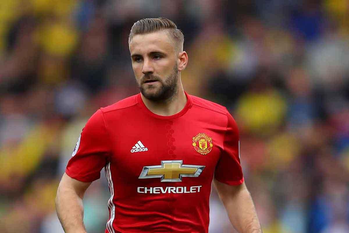 Manchester United full-back Luke Shaw