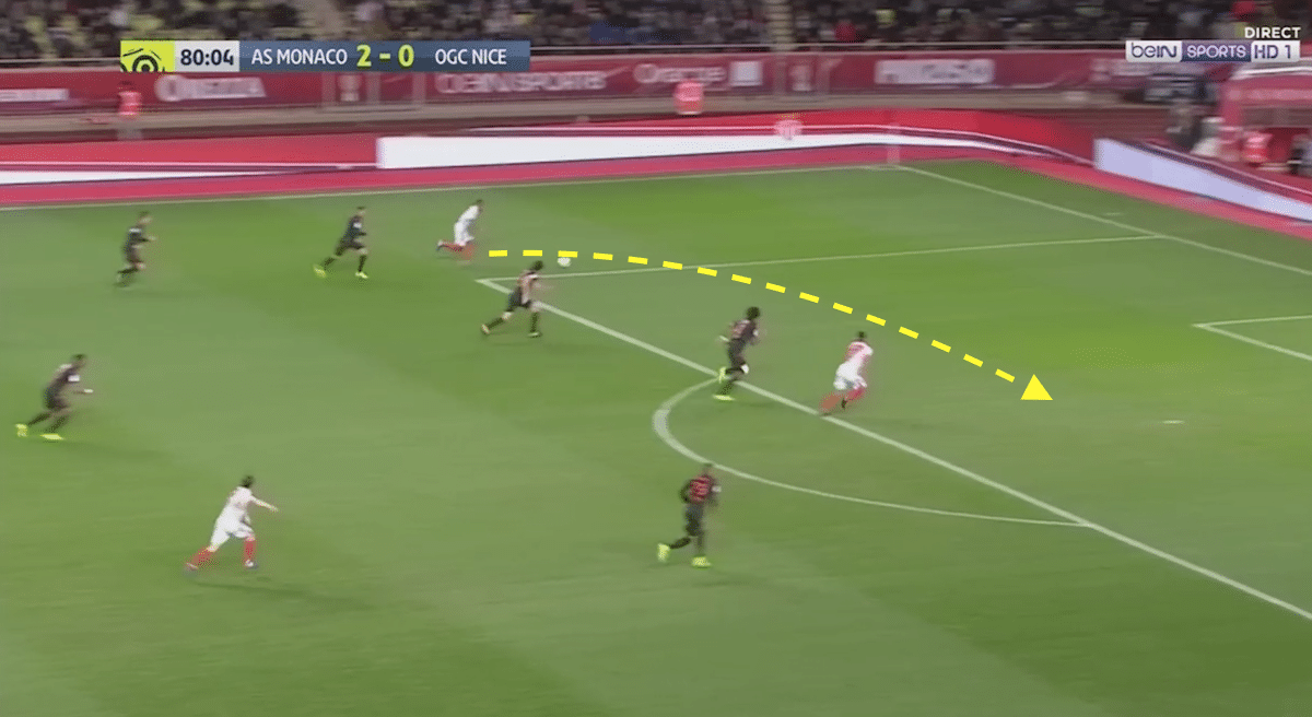 Thomas Lemar's crossing ability is superb.
