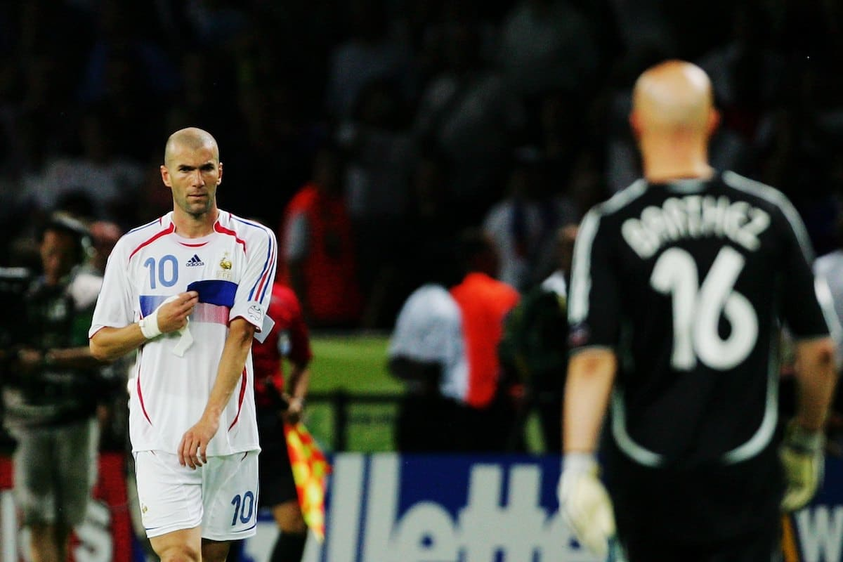 Zidane was sent off in his very last game.