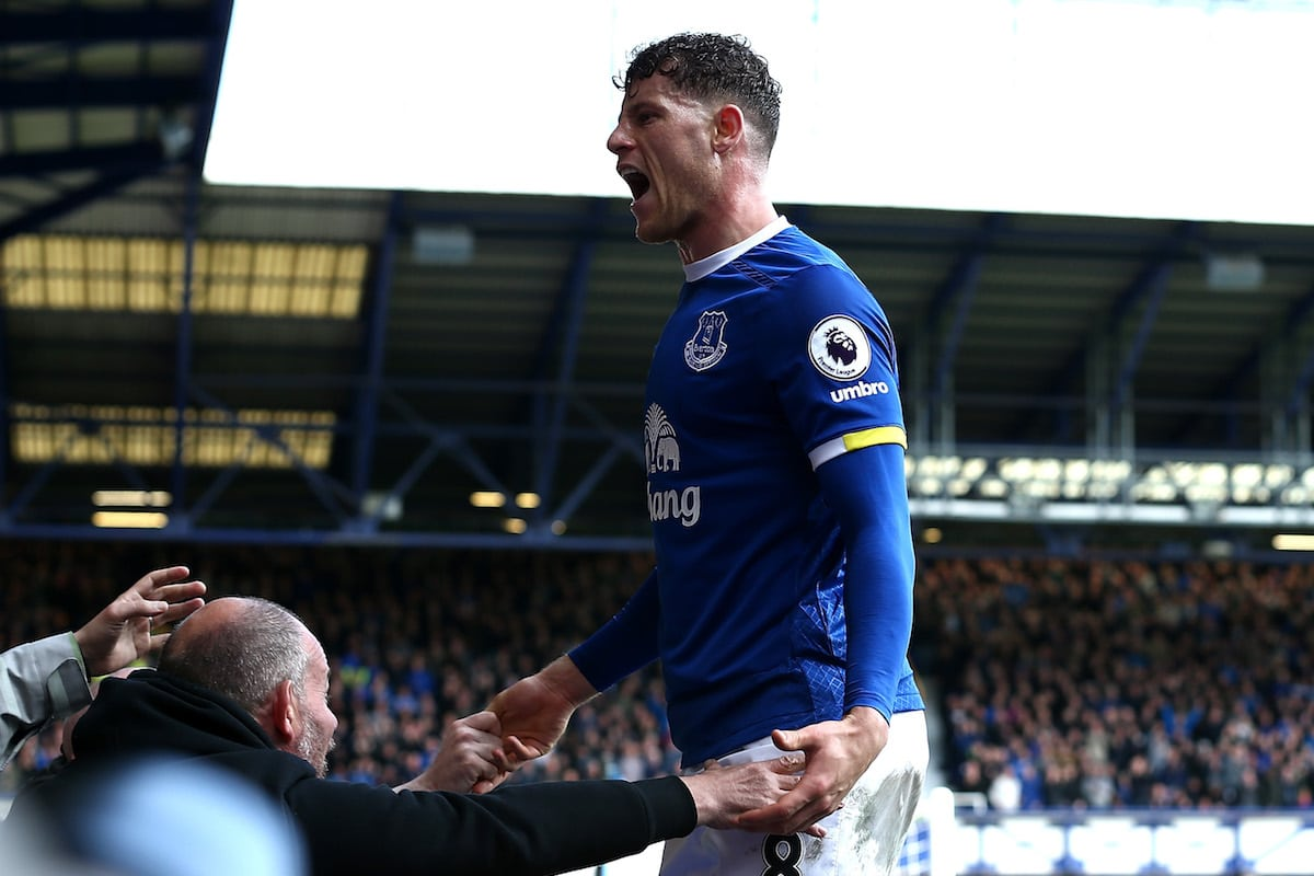 Everton star Ross Barkley celebrates