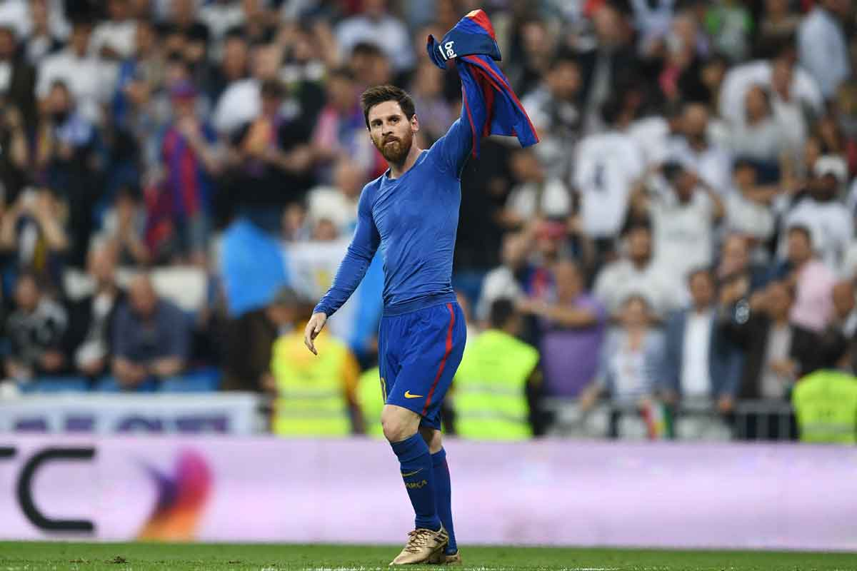 Barcelona superstar Lionel Messi in the Clasico