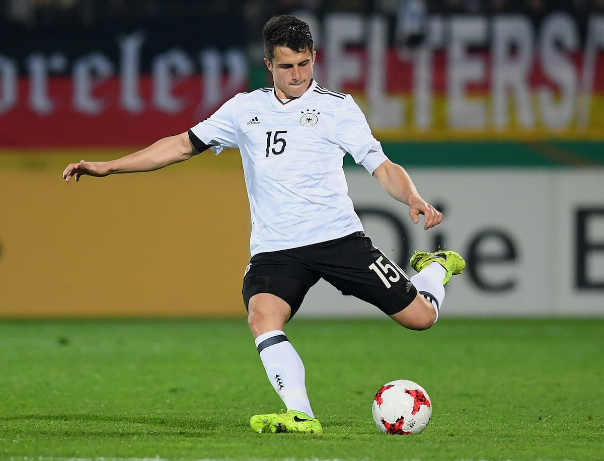 Freiburg defender Marc-Oliver Kempf in action for Germany Under-21s against England Under-21s