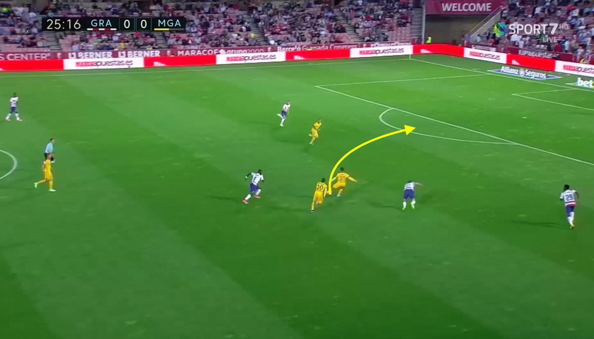 Pablo Fornals great at defending from the front.