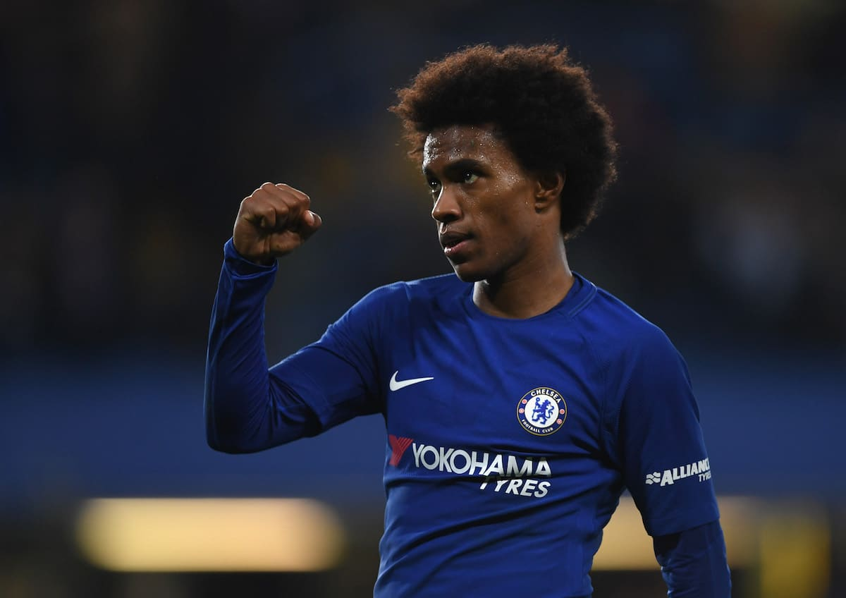 Chelsea winger Willian is wanted by Manchester United and Barcelona