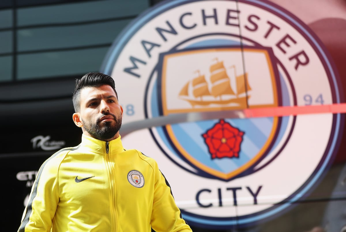 Manchester City striker Sergio Aguero ahead of his side's Premier League clash with Middlesbrough