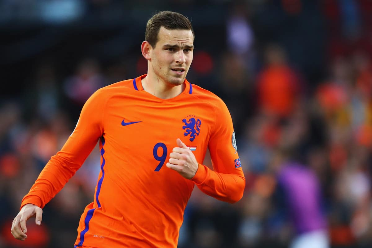 Vincent Janssen of the Netherlands in action during the FIFA 2018 World Cup Qualifier between the Netherlands and Luxembourg