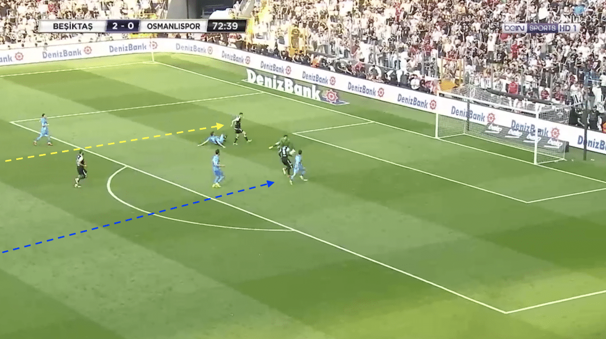 Vincent Aboubakar scores for Besiktas against Osmanlispor