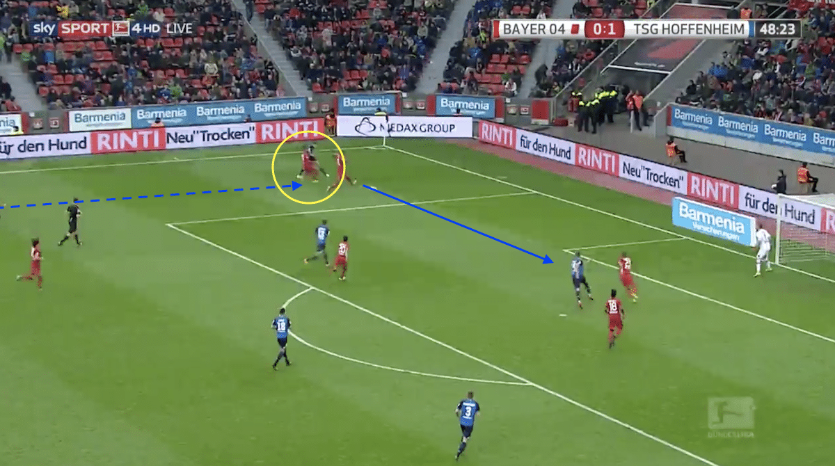 Andrej Kramaric supplies the assist for Sandro Wagner to score against Bayer Leverkusen