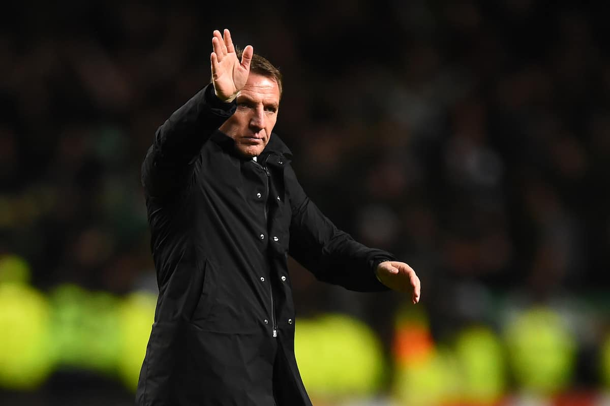 Celtic's Northern Irish manager Brendan Rodgers