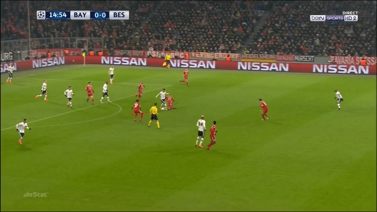 James Rodríguez displays his counter-pressing quality v Besiktas