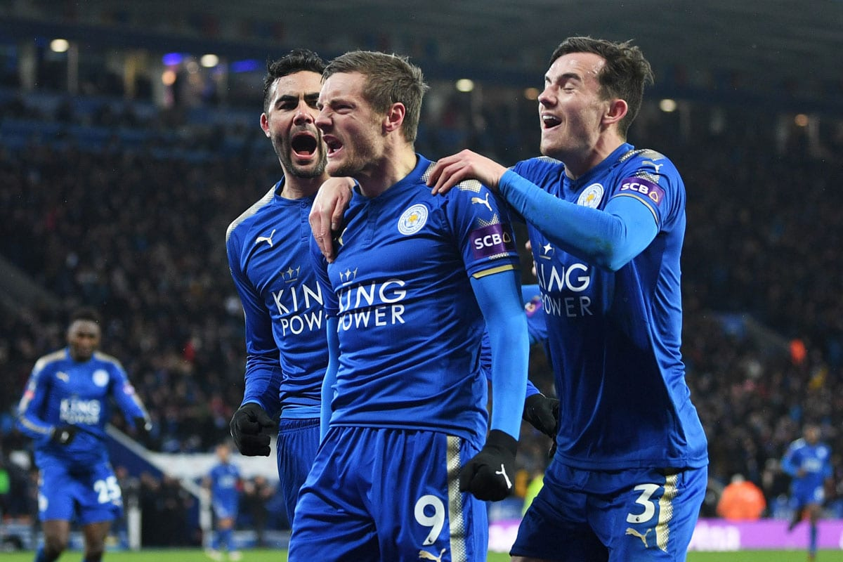 Jamie Vardy goal celebration