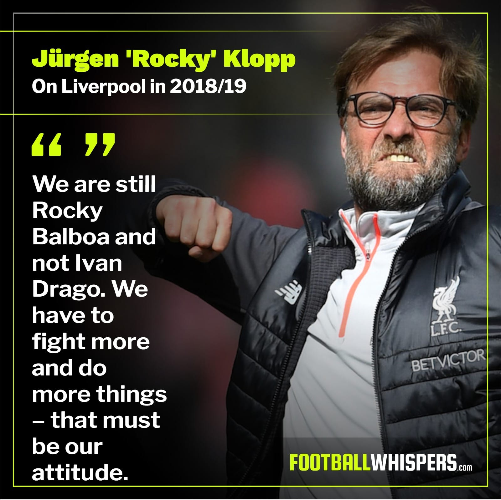 Klopp has Liverpool ready for the fight