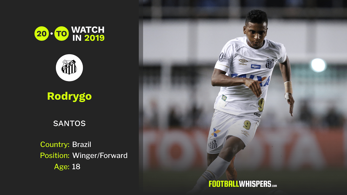 Football Whispers' 20 to watch in 2019: Rodrygo Goes