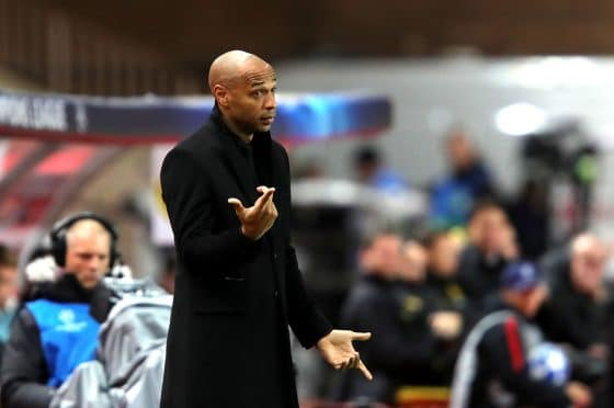 Former Monaco manager Thierry Henry