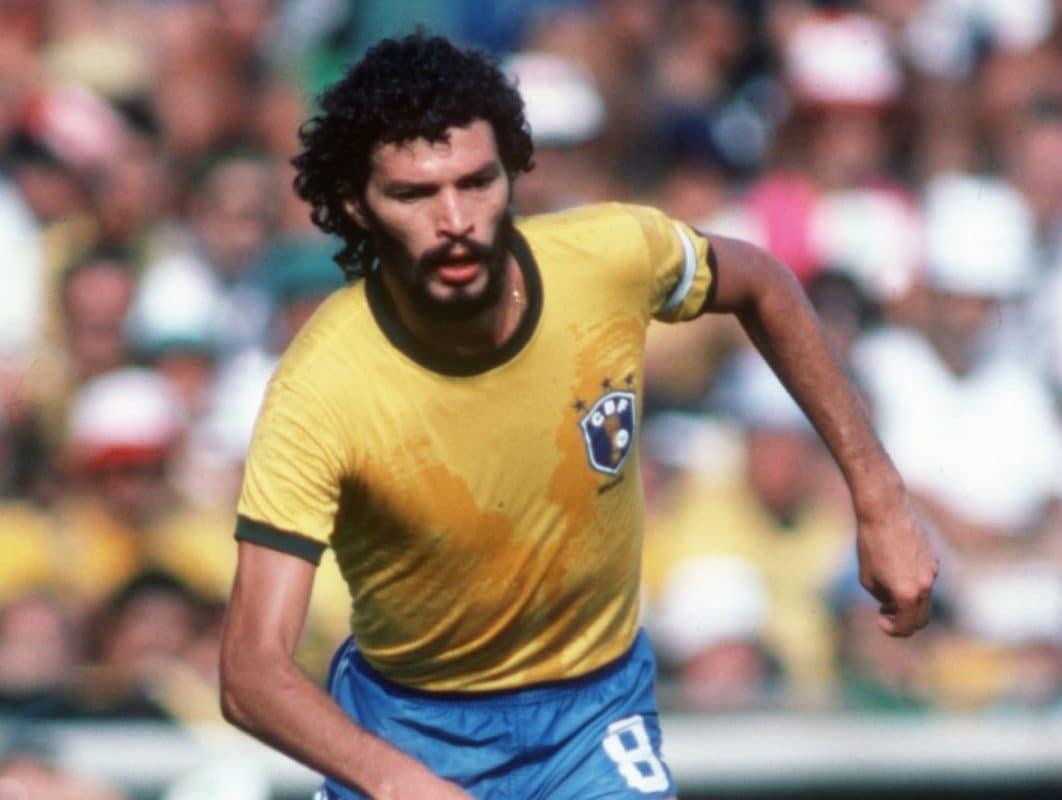 Socrates is widely considered one of the greatest Brazilian footballers ever