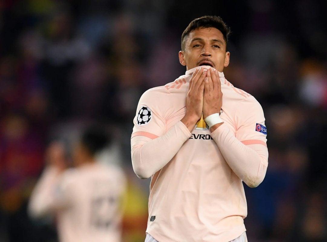 Manchester United forward Alexis Sánchez