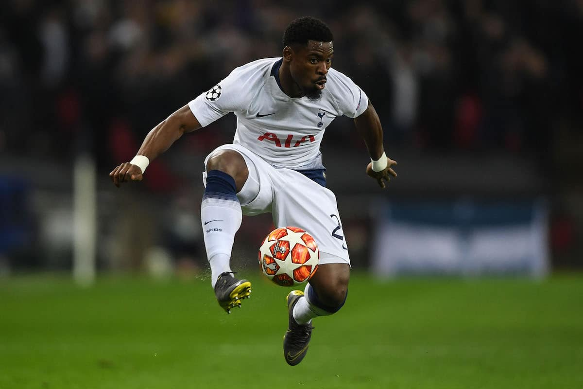 Tottenham Hotspur defender Serge Aurier in Champions League action vs. Borussia Dortmund
