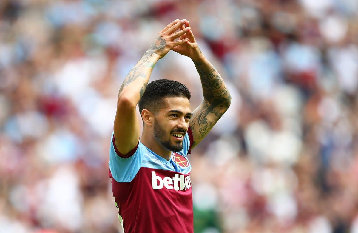 West Ham United midfielder Manuel Lanzini in action for the Hammers