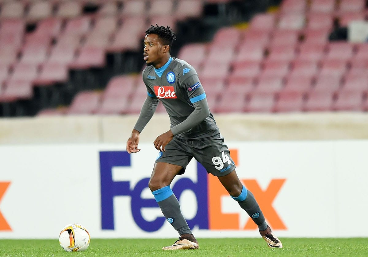 Nathaniel Chalobah on Europa League action for Napoli against Legia Warsaw