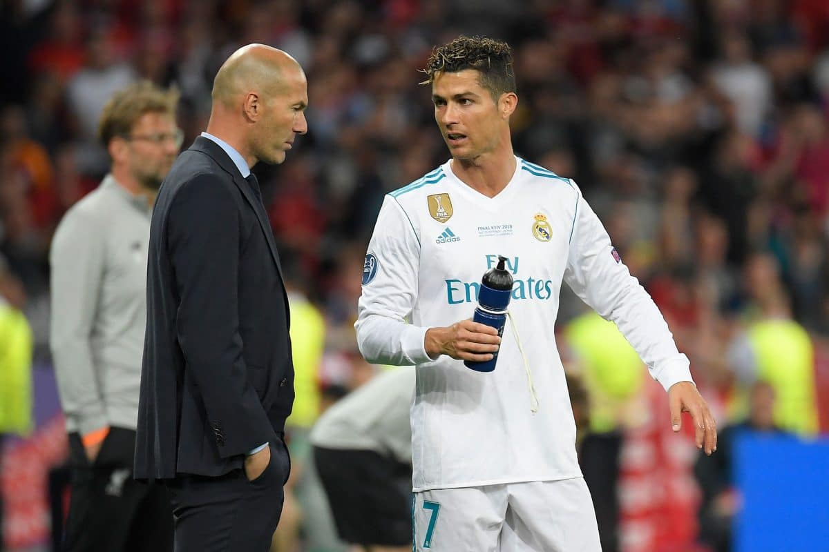 Cristiano Ronaldo and Zinedine Zidane – one of the original Galácticos