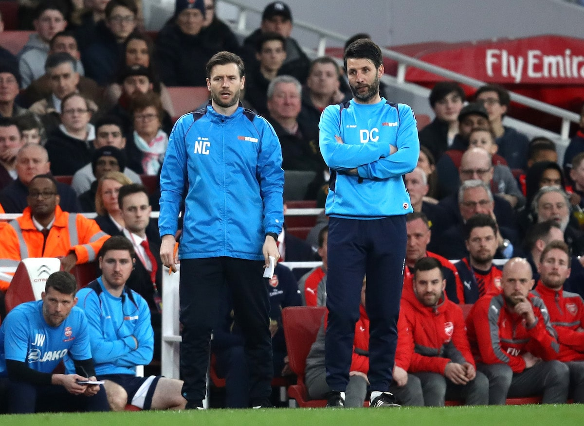 Lincoln City management duo Danny Cowley and Nicky Cowley
