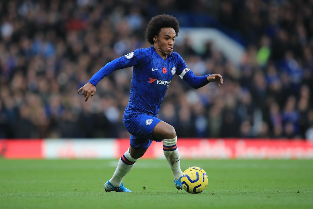 Chelsea forward Willian in Premier League action against Crystal Palace