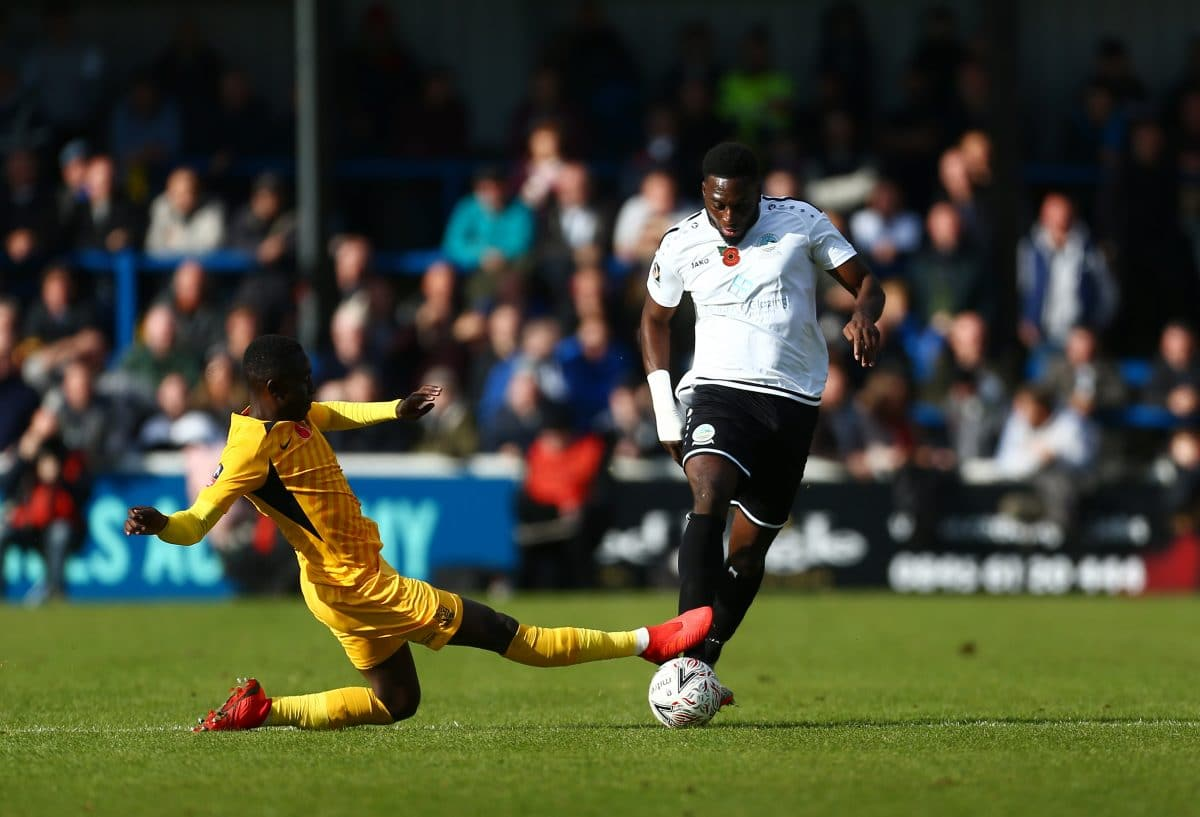 Inih Effiong in action for National League side Dover Athletic
