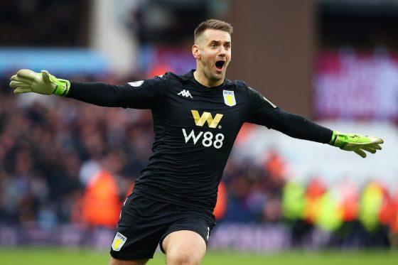 Aston Villa goalkeeper Tom Heaton