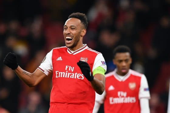 Arsenal's Gabonese striker Pierre-Emerick Aubameyang