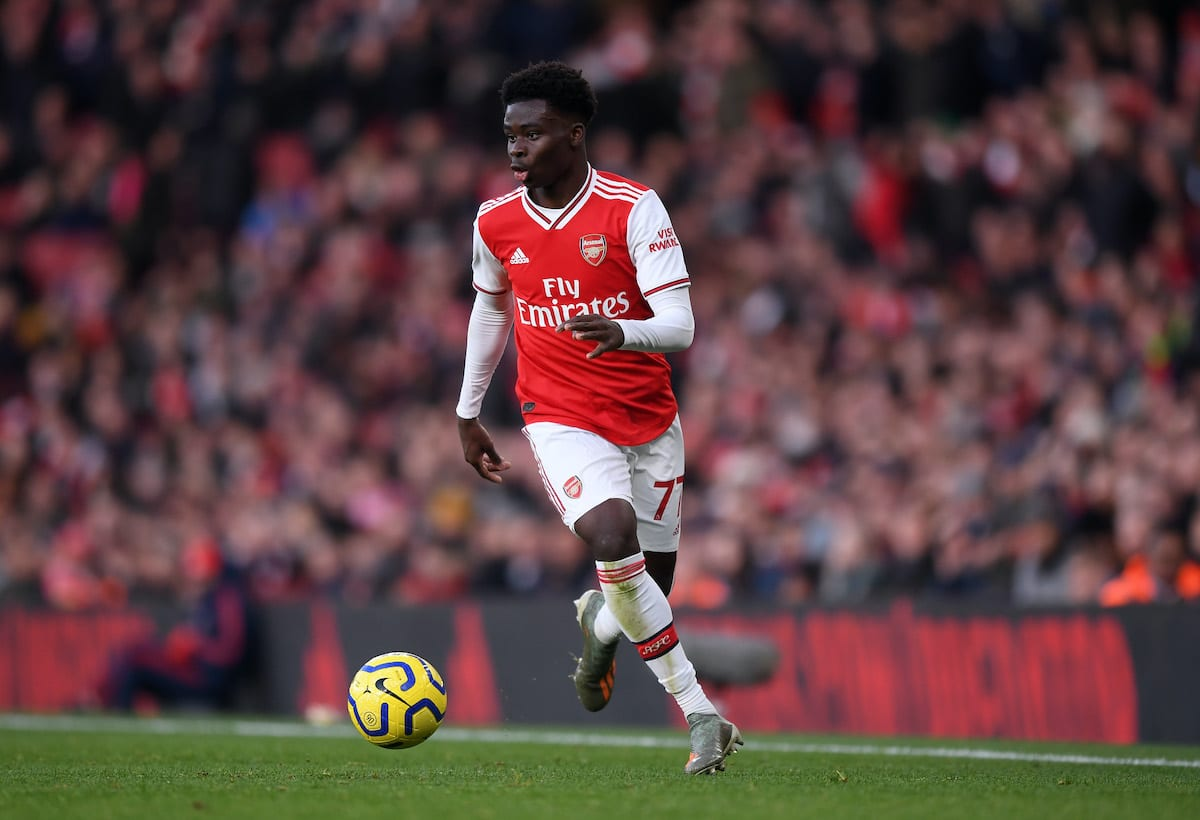 Arsenal defender Bukayo Saka