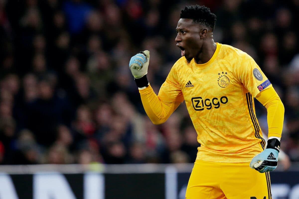 Ajax goalkeeper André Onana