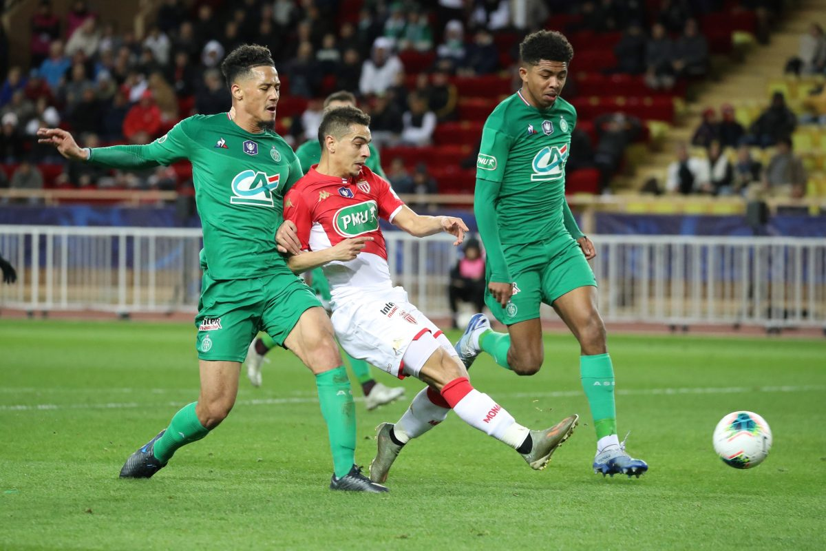 Leicester City target Wesley Fofana in action for Saint-Étienne