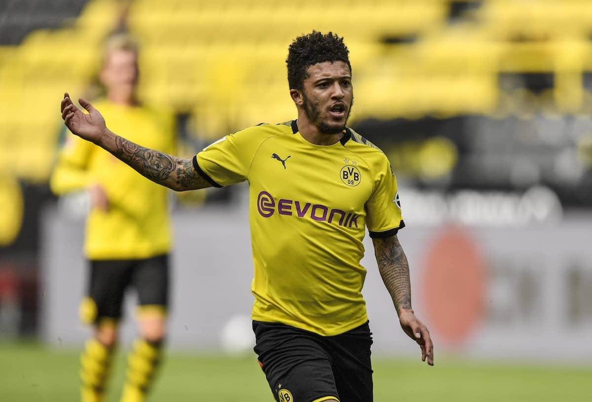 Borussia Dortmund's English midfielder Jadon Sancho