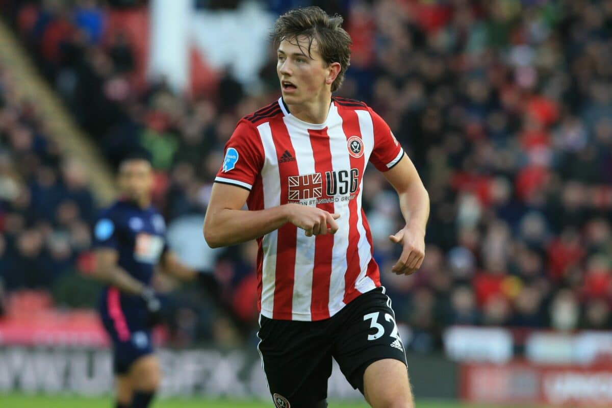 Sander Berge in action for Sheffield United