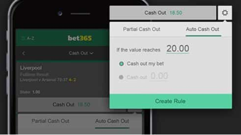 bet365 cashout feature