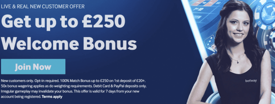 betway uk casino offer