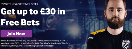 esports offer at betway