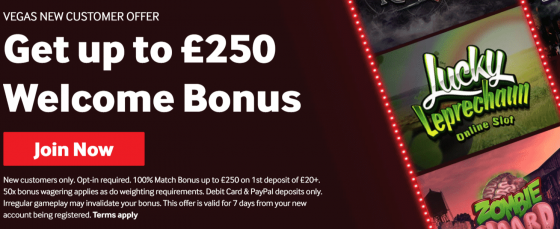 vegas offer at betway