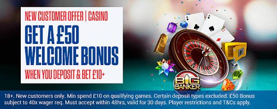 Coral New Customer Offers for Casino