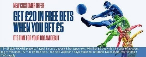 Coral Free Bets Offers