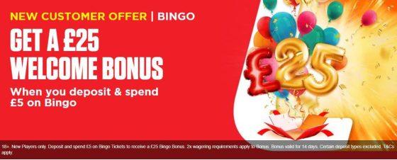 ladbrokes bingo welcome bonus
