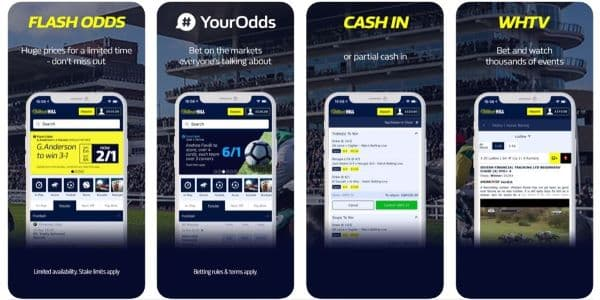 william hill mobile app sports