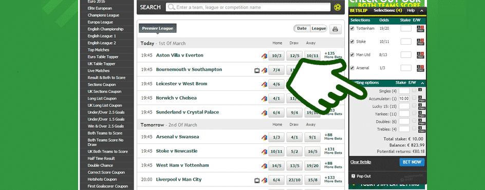 acca betting tips