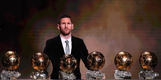 messi ballon d'or record